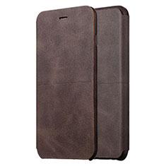 Handytasche Stand Schutzhülle Leder L01 für Apple iPhone 6S Plus Braun