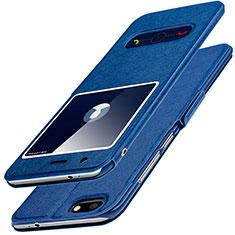 Handytasche Stand Schutzhülle Leder L01 für Huawei Enjoy 7 Blau