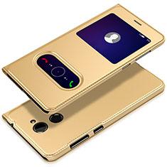 Handytasche Stand Schutzhülle Leder L01 für Huawei Enjoy 7 Plus Gold