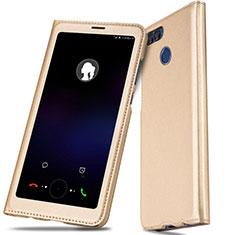 Handytasche Stand Schutzhülle Leder L01 für Huawei Enjoy 7S Gold