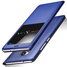 Handytasche Stand Schutzhülle Leder L01 für Huawei G7 Plus Blau