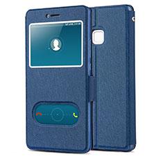 Handytasche Stand Schutzhülle Leder L01 für Huawei G9 Lite Blau