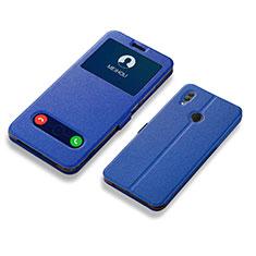 Handytasche Stand Schutzhülle Leder L01 für Huawei Honor 10 Lite Blau