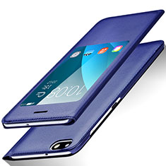 Handytasche Stand Schutzhülle Leder L01 für Huawei Honor 4X Blau