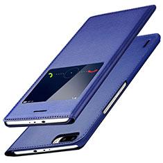 Handytasche Stand Schutzhülle Leder L01 für Huawei Honor 6 Plus Blau