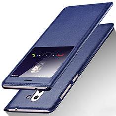 Handytasche Stand Schutzhülle Leder L01 für Huawei Honor 6X Blau