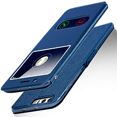 Handytasche Stand Schutzhülle Leder L01 für Huawei Honor 8 Blau
