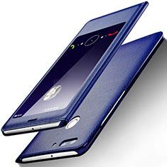 Handytasche Stand Schutzhülle Leder L01 für Huawei Honor 8 Pro Blau