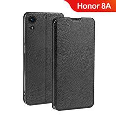 Handytasche Stand Schutzhülle Leder L01 für Huawei Honor 8A Schwarz