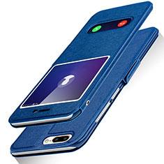 Handytasche Stand Schutzhülle Leder L01 für Huawei Honor 9 Lite Blau