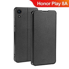 Handytasche Stand Schutzhülle Leder L01 für Huawei Honor Play 8A Schwarz