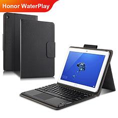 Handytasche Stand Schutzhülle Leder L01 für Huawei Honor WaterPlay 10.1 HDN-W09 Schwarz