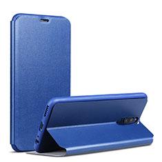 Handytasche Stand Schutzhülle Leder L01 für Huawei Mate 10 Lite Blau