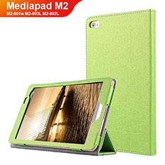Handytasche Stand Schutzhülle Leder L01 für Huawei Mediapad M2 8 M2-801w M2-803L M2-802L Grün