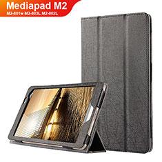 Handytasche Stand Schutzhülle Leder L01 für Huawei Mediapad M2 8 M2-801w M2-803L M2-802L Schwarz