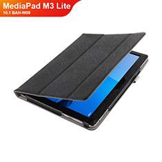 Handytasche Stand Schutzhülle Leder L01 für Huawei MediaPad M3 Lite 10.1 BAH-W09 Schwarz