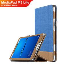 Handytasche Stand Schutzhülle Leder L01 für Huawei MediaPad M3 Lite 8.0 CPN-W09 CPN-AL00 Blau