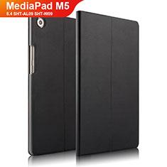 Handytasche Stand Schutzhülle Leder L01 für Huawei MediaPad M5 8.4 SHT-AL09 SHT-W09 Schwarz