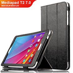 Handytasche Stand Schutzhülle Leder L01 für Huawei Mediapad T2 7.0 BGO-DL09 BGO-L03 Schwarz