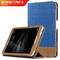 Handytasche Stand Schutzhülle Leder L01 für Huawei MediaPad T2 Pro 7.0 PLE-703L Blau