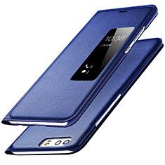 Handytasche Stand Schutzhülle Leder L01 für Huawei P9 Blau