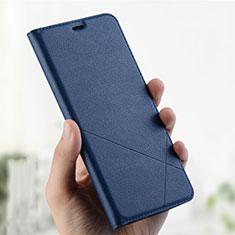 Handytasche Stand Schutzhülle Leder L01 für Oppo A7 Blau