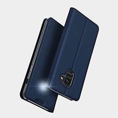 Handytasche Stand Schutzhülle Leder L01 für Samsung Galaxy A5 (2018) A530F Blau