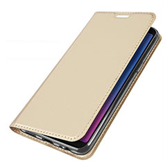 Handytasche Stand Schutzhülle Leder L01 für Samsung Galaxy A6s Gold