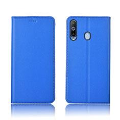 Handytasche Stand Schutzhülle Leder L01 für Samsung Galaxy A8s SM-G8870 Blau