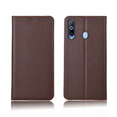 Handytasche Stand Schutzhülle Leder L01 für Samsung Galaxy A8s SM-G8870 Braun