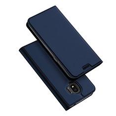 Handytasche Stand Schutzhülle Leder L01 für Samsung Galaxy J2 Pro (2018) J250F Blau