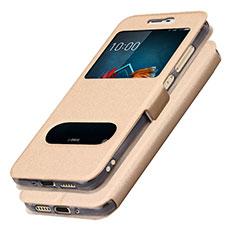 Handytasche Stand Schutzhülle Leder L01 für Samsung Galaxy J5 (2017) SM-J750F Gold