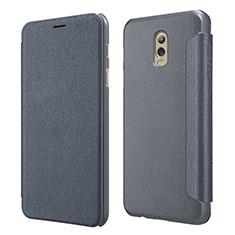 Handytasche Stand Schutzhülle Leder L01 für Samsung Galaxy J7 Plus Schwarz