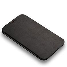 Handytasche Stand Schutzhülle Leder L01 für Samsung Galaxy Note 2 N7100 N7105 Schwarz