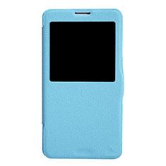 Handytasche Stand Schutzhülle Leder L01 für Samsung Galaxy Note 3 N9000 Blau