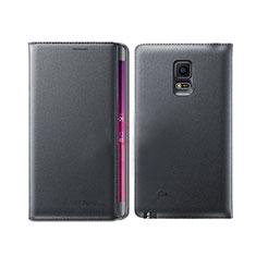 Handytasche Stand Schutzhülle Leder L01 für Samsung Galaxy Note Edge SM-N915F Schwarz