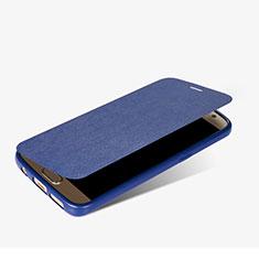 Handytasche Stand Schutzhülle Leder L01 für Samsung Galaxy S7 G930F G930FD Blau