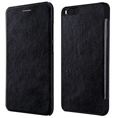 Handytasche Stand Schutzhülle Leder L01 für Xiaomi Mi 6 Schwarz