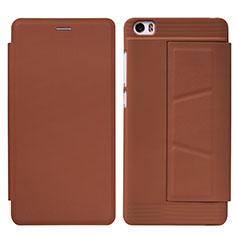 Handytasche Stand Schutzhülle Leder L01 für Xiaomi Mi Note Braun