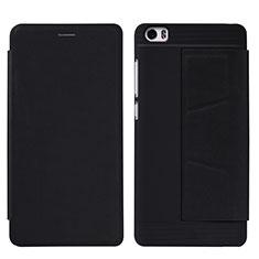 Handytasche Stand Schutzhülle Leder L01 für Xiaomi Mi Note Schwarz