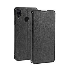 Handytasche Stand Schutzhülle Leder L01 für Xiaomi Redmi 7 Schwarz