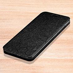 Handytasche Stand Schutzhülle Leder L01 für Xiaomi Redmi Note 7 Schwarz