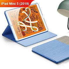 Handytasche Stand Schutzhülle Leder L02 für Apple iPad Mini 5 (2019) Hellblau