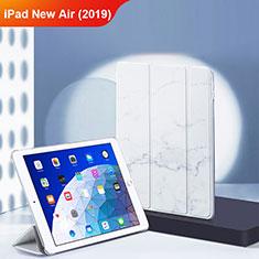 Handytasche Stand Schutzhülle Leder L02 für Apple iPad New Air (2019) 10.5 Weiß