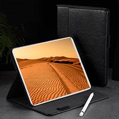 Handytasche Stand Schutzhülle Leder L02 für Apple iPad Pro 11 (2018) Schwarz