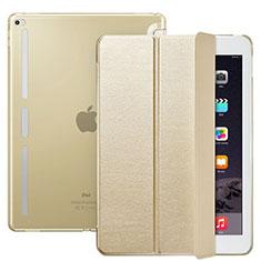 Handytasche Stand Schutzhülle Leder L02 für Apple iPad Pro 12.9 Gold