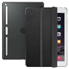 Handytasche Stand Schutzhülle Leder L02 für Apple iPad Pro 12.9 Schwarz