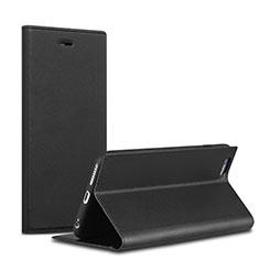 Handytasche Stand Schutzhülle Leder L02 für Apple iPhone 6S Plus Schwarz