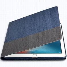 Handytasche Stand Schutzhülle Leder L02 für Apple New iPad 9.7 (2017) Blau