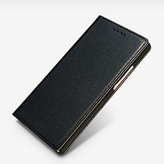Handytasche Stand Schutzhülle Leder L02 für Huawei Ascend P7 Schwarz